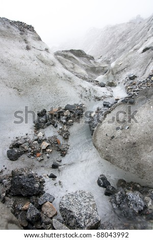 Hailuogou Glacier.Taken in the Minya Konka Sichuan China - stock photo