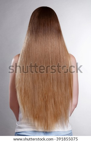 Hair Beauty Blonde Woman Portrait, Model with Long Healthy straight Blond Hair. Pretty woman with beautiful hair, Blond Hair Beautiful Woman with Straight Long Hair, isolated, studio, series