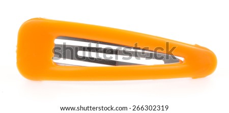 hair clips isolated on the white background - stock photo