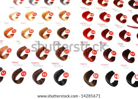 hair color sample: