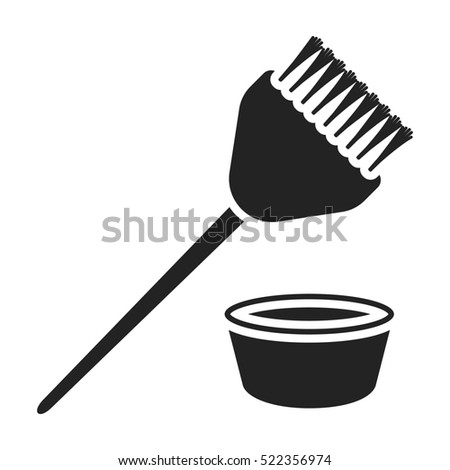 Hair Coloring Brush Icon Black Style Stock Illustration 522356974 ...
