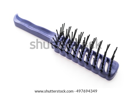 Hair comb isolated on white background