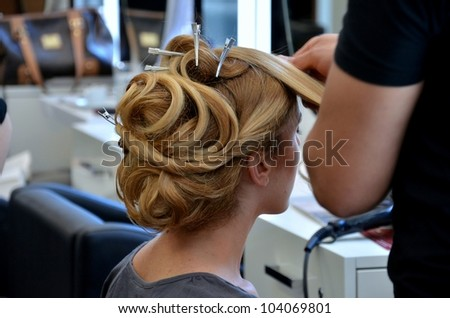hair dresser - stock photo