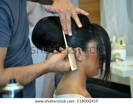 hair dressing - stock photo
