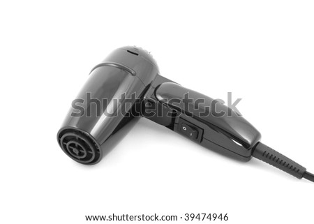 Hair dryer is isolated on a white background