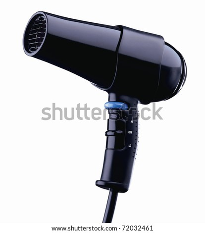 hair dryer isolated on white - stock photo