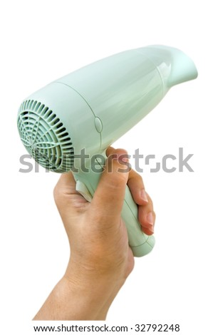 Hair Dryer Isolated on White Background - stock photo