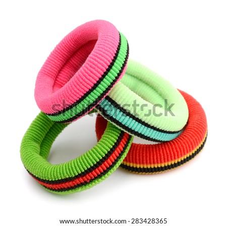Hair elastics  - stock photo