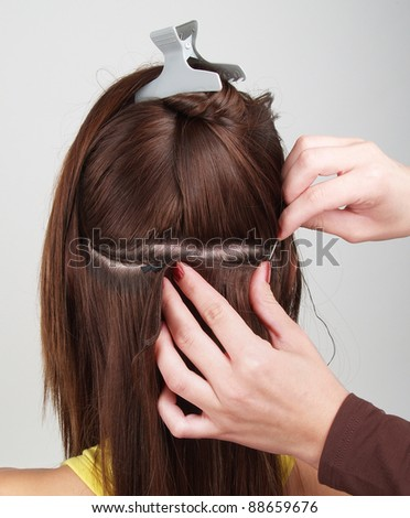 Hair extensions stock images royalty free images vectors hair extensions tress pmusecretfo Image collections