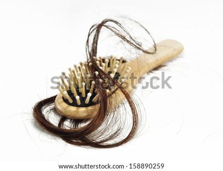 Hair loss problem - stock photo