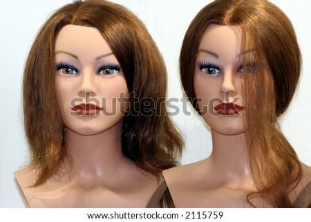 hair make-up - stock photo