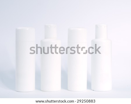 hair protector products isolated on white