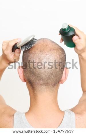 Hair restorer - stock photo