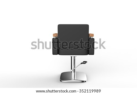 Hair Salon Chair Back View - stock photo