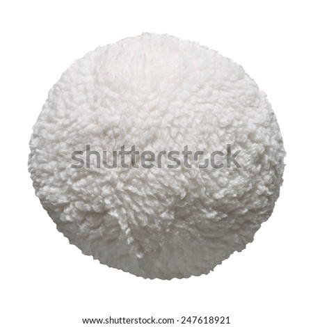 Hair sheep / Fur ball isolated on white background - stock photo