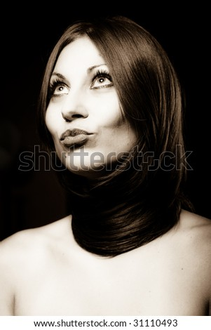 Hair style - stock photo