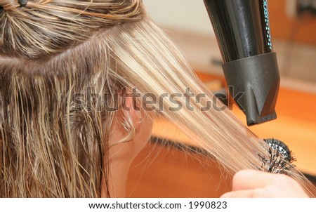 Hair styling - stock photo