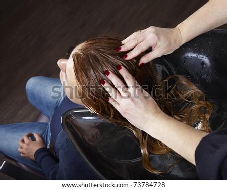 Hair treatment - stock photo