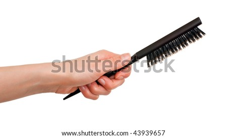 Hairbrush with bristle isolated on white background