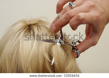 haircut - stock photo
