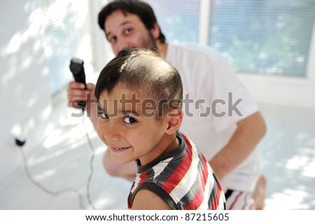 Haircut Father Son Stock Photo Royalty Free 87215605 Shutterstock