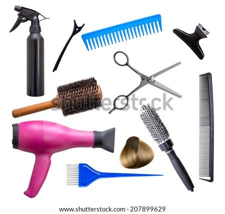 Hairdresser equipment - stock photo