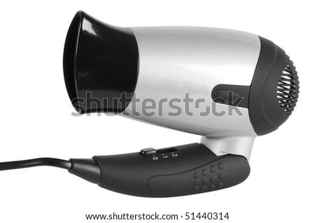 Hairdryer. Isolated - stock photo