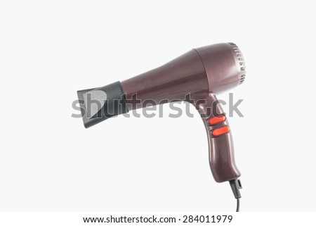 hairdryer isolated on white background