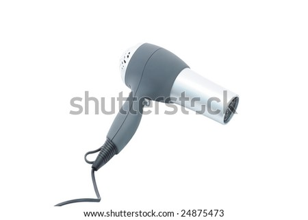 hairdryer under the light background - stock photo