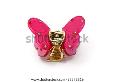 Hairpin for hair with Butterfly. - stock photo