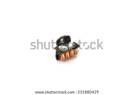 Hairpin on white background