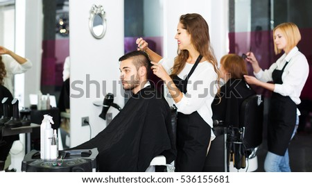 Wondrous Salon Chair Stock Images Royalty Free Images Vectors Shutterstock Hairstyles For Women Draintrainus