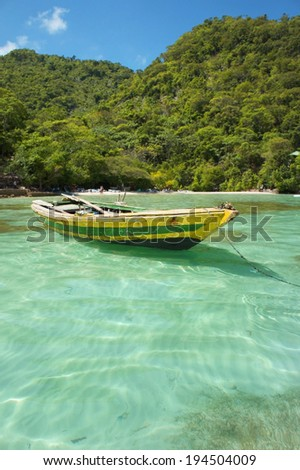 Haitian Fishing Boat: An old fishing boat near Labadee, Haiti