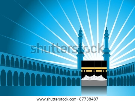 Hajj/ Pilgrimage Background 1 - stock photo