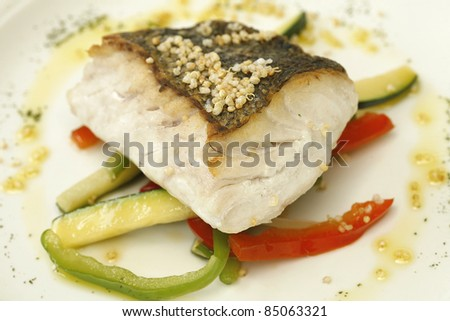 hake roasted with vegetables