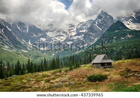 Hala Gasienicowa, polish Tatra Mountains. - stock photo