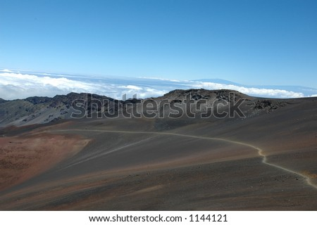 haleakala crater - stock photo