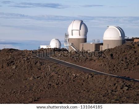 Haleakala Observatory - stock photo