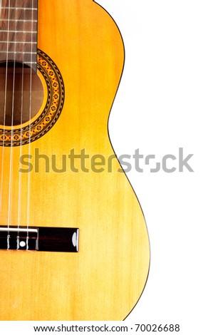 Half body acoustic guitar - stock photo