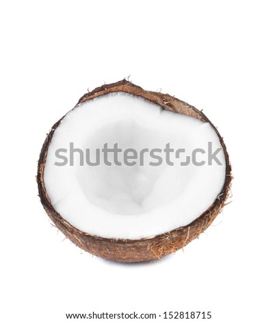 half coconut isolated