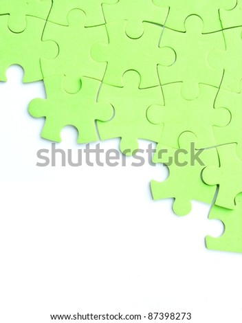 Half completed puzzle - stock photo