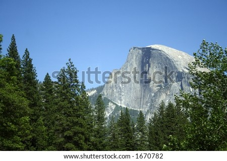 Half Dome - stock photo
