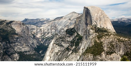 Half Dome and Canyons - Yosemite National park - stock photo
