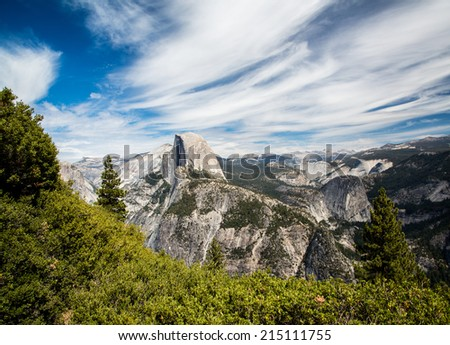 Half Dome from Glacier Point - stock photo