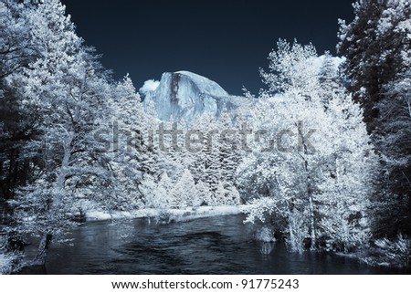 Half Dome in Infrared