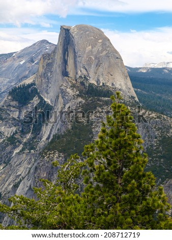Half Dome in Yosemite National Park (California, USA) - stock photo