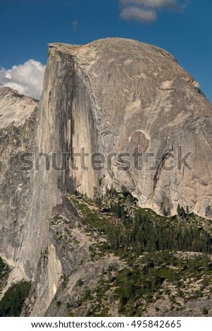 Half Dome in Yosemite National Park from Glacier Point
