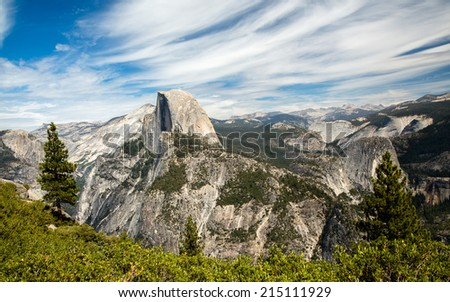 Half Dome Panorama - stock photo