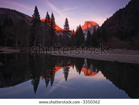 Half Dome Sunset - stock photo