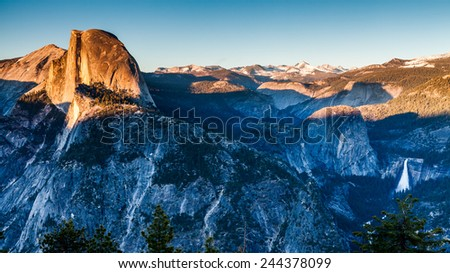 Half Dome Yosemite - stock photo